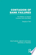 Contagion of Bank Failures (RLE Banking & Finance)