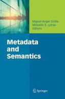 Pdf Metadata and Semantics Telecharger