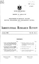 Agricultural Research Review