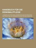 Handbuch Für Die Denkmalpflege