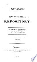 New Series of The Mathematical Repository