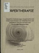 Tiefenpsychologische Körpertherapie