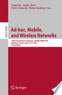 Ad hoc  Mobile  and Wireless Networks