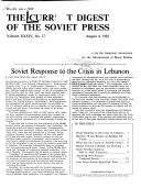The Current Digest Of The Soviet Press Book PDF