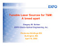 Tunable Laser Source for T M  A Breed Apart