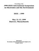 Proceedings of the 1999 IEEE International Symposium on Electronics and the Environment   ISEE  1999