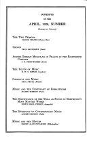 The Musical Quarterly Book