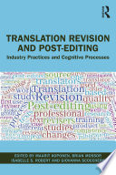 Translation Revision and Post editing
