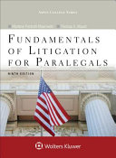 Fundamentals of Litigation for Paralegals