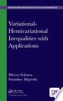 Variational Hemivariational Inequalities With Applications