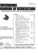 Journal of Agriculture, Tasmania
