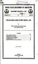 Truck farm Labor in New Jersey  1922