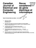Canadian Journal of Electrical and Computer Engineering