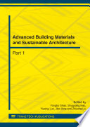 Advanced Building Materials And Sustainable Architecture Book PDF