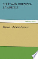 Bacon is Shake Speare Book