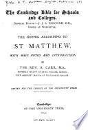 The Gospel According To St Matthew Book PDF
