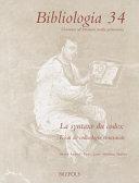 Cover image of La syntaxe du codex : essai de codiologie structurale