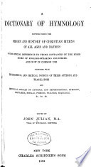 A Dictionary of Hymnology