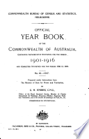 Official Year Book of the Commonwealth of Australia No  10   1917 Book