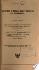 Hearings, Reports and Prints of the House Committee on Armed Services