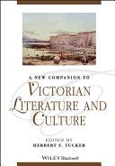 Pdf A New Companion to Victorian Literature and Culture