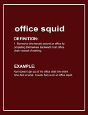 Urban Dictionary 'office Squid' Funny Notebook. Journal & Exercise Book (Red)