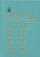 Annual Review of Materials Science Book