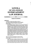 Loyola of Los Angeles entertainment law journal