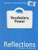 California Reflections Vocabulary Power  Grade 4