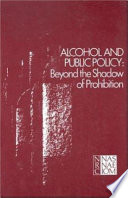 Alcohol and Public Policy