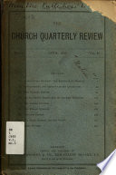 The Church Quarterly Review Book