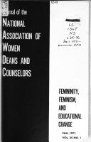 Journal of the National Association of Women Deans and Counselors
