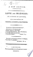 Love and Madness  etc   By Sir Herbert Croft    A new edition  corrected