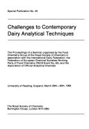 Challenges to Contemporary Dairy Analytical Techniques Book