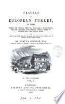 Travels in European Turkey  in 1850
