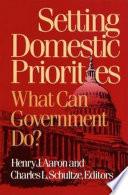 Setting Domestic Priorities Book PDF