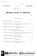 Manitoba Journal of Education