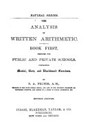 Pdf The Analysis of Written Arithmetic