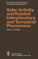 Proceedings of the First European Astronomical Meeting Athens  September 4   9  1972
