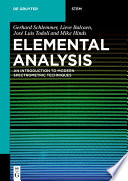 Elemental Analysis Book PDF