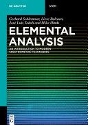 Elemental Analysis Pdf/ePub eBook