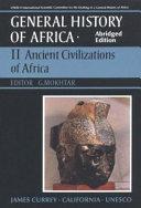 UNESCO General History of Africa  Vol  II  Abridged Edition