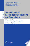 Trends In Applied Knowledge Based Systems And Data Science Book PDF