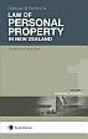 Garrow and Fenton s Law of Personal Property in New Zealand