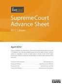 U S  Supreme Court Advance Sheet April 2012