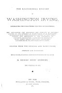The Kaaterskill Edition of Washington Irving...