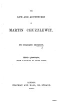 The Life and Adventures of Martin Chuzzlewit ... With a Frontispiece, from a Drawing by F. Stone