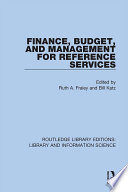 Finance Budget And Management For Reference Services