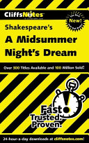 CliffsNotes on Shakespeare's A Midsummer Nights Dream