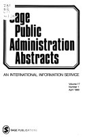 Sage public administration abstracts